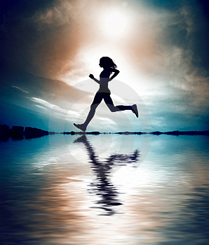 silhouette-of-girl-running